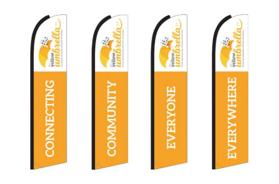 Big Yellow Umbrella - Banner Design