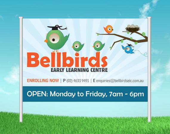 Bellbirds Early Learning Centre Signage